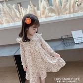 女童秋裝長袖洋裝2020新款韓版兒童雪紡碎花公主裙寶寶洋氣裙子 艾瑞斯