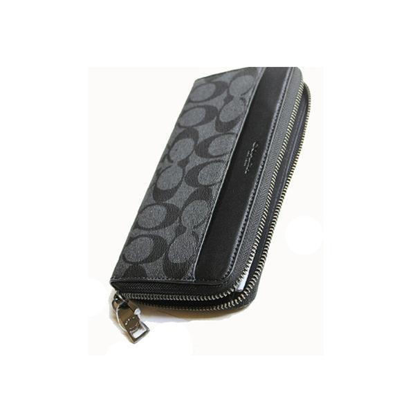 Coach f75000 新款男士長款皮夾拉鍊錢包手拿包