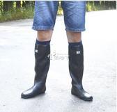 雨鞋 長筒雨靴輕柔雨鞋男防滑橡膠防水鞋插秧靴女高筒雨靴膠鞋平底 俏腳丫