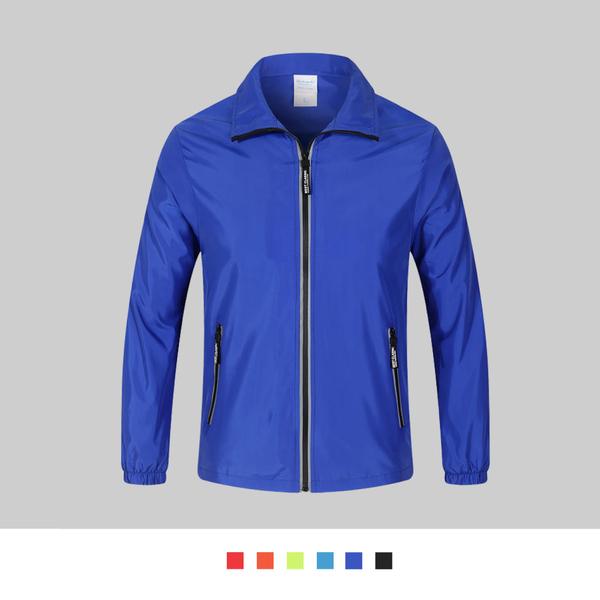 【晶輝團體制服】SS016*素面風衣羅紋小領防風防潑水風衣外套輕薄(印刷免費)公司制服,班服