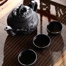 紫砂壺紫砂茶壺紫砂大容量大號紫砂壺家用功夫茶具杯套裝宜興朱泥梅花壺 特賣