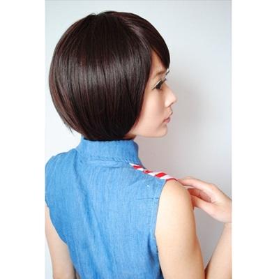 短假髮(整頂)-鮑伯頭Bob蓬鬆直髮女假髮8款73rr5【巴黎精品】