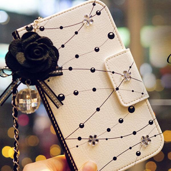 水晶花皮套 送掛繩送吊飾SAMSUNG GALAXY Note5/ Note4/Note8手機皮套 手機殼 手機保護套