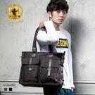 肩背包 高質感尼龍雙口袋托特包斜背包包 NEW STAR BB09