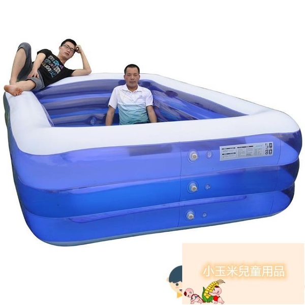 寶寶游泳桶加厚折疊成人戲水池兒童充氣游泳池家用嬰兒