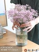 家用花瓶擺件客廳插花玻璃透明北歐鮮花花器水養簡約【淘夢屋】