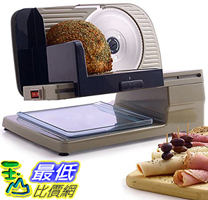[107美國直購]  Chef's Choice 615A Electric Slicer Cast Aluminum Tilted Food Carriage Cantilever Powerful High Torque