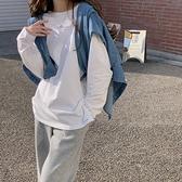 (下殺)韓版自製素面百搭寬鬆t恤疊穿長袖上衣【08SG04582】