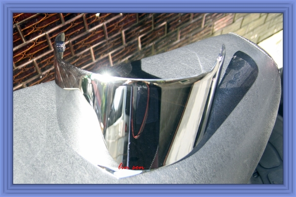 M2R安全帽,F5/XR5專用電鍍鏡片