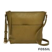 FOSSIL AMELIA 真皮瘦瘦水桶包-橄欖綠