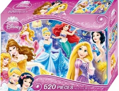 迪士尼公主 520片盒裝拼圖 (B) QFR01B 根華 (購潮8) Disney 白雪公主 睡美人 美女與野獸