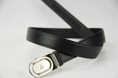 【雅派Alpaca】銀色圓頭鏤空黑帶身紳士自動腰帶