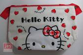 Hello Kitty 凱蒂貓 保冷暖提袋 手提袋 收納袋 置物袋 購物袋 外出袋 環保袋 紅色愛心 KRT-210551