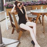 水母衣 泳衣女連體性感露背掛脖小胸聚攏遮肚顯瘦溫泉度假比基尼游泳衣  野外之家DF