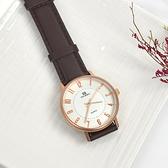 韓國手錶 DON BOSCO玫金數字皮革錶NEKD11