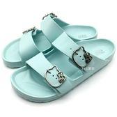 《7+1童鞋》 HELLO KITTY  超輕防水 拖鞋  E012  水色