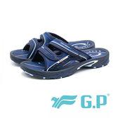 G.P 硬派風格雙帶拖 男鞋-藍(另有綠)