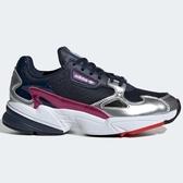ADIDAS Falcon 女鞋 慢跑 休閒 老爹鞋 復古 麂皮 深藍 銀 紫 【運動世界】 CG6213