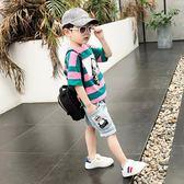 男童夏裝新款套裝短袖純棉T恤韓版夏季童裝兒童運動兩件套潮