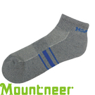 【Mountneer 山林 奈米銀氣墊健走短襪 灰/藍】 12U01/短襪/透氣襪