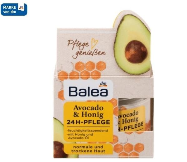 德國原裝Balea酪梨蜂蜜 24小時保濕霜  50ml【德潮購】