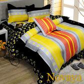 【Novaya‧諾曼亞】《派克狄恩》絲光綿雙人鋪棉兩用被(橘)