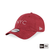 NEW ERA 9FORTY 940UNST 亞麻布料 NYC 深紅 棒球帽