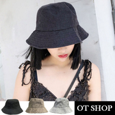 OT SHOP 帽子‧簡約素色透氣棉麻‧漁夫帽盆帽遮陽帽‧春夏  文青穿搭 ‧ 3 色‧C1944