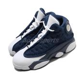 Nike Air Jordan 13 Retro PS Flint Grey 藍 白 童鞋 中童鞋 籃球鞋 喬丹 【ACS】 414575-404