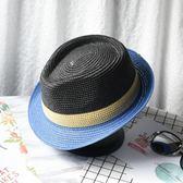 巴拿馬草帽男太陽帽夏季戶外涼帽休閒帽子爵士帽禮帽防曬沙灘帽潮