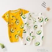 新生嬰兒連體衣夏裝和尚服初生寶寶爬服夏季薄款哈衣純棉衣服 布衣潮人