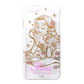 迪士尼apple 蘋果iPhone 6 6S 4 7 吋長髮公主金箔透明硬殼手機保護套8