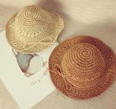 全館83折母女帽夏天兒童草帽女童遮陽沙灘帽親子漁夫帽防曬太陽帽寶寶涼帽