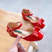 春季新款女童皮鞋2018兒童高跟鞋