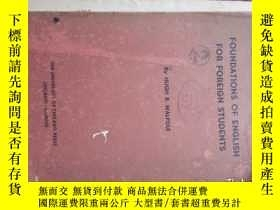 二手書博民逛書店FOUNDATIONS罕見OF ENGLISH FOR FORE
