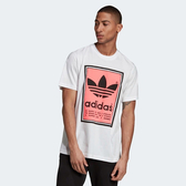 ADIDAS FILLED LABEL TEE 白 螢光桃  短袖 短T 男 (布魯克林) ED6938