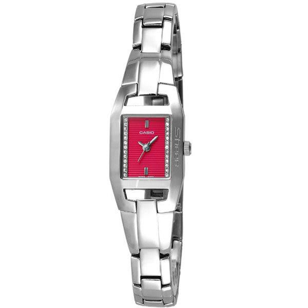CASIO Sheen系列甜美氣質腕錶-紅