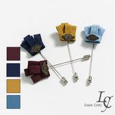 男 飾品/胸針 L AME CHIC 韓國製 布藝黃冠造型長胸針【CDA032406】