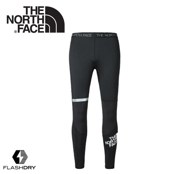 【The North Face 男 FlashDry-XD緊身運動褲《黑》】3LEA/健行褲/慢跑褲/緊身褲