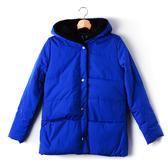 【MASTINA】拼接羔毛外套-藍 秋冬嚴選