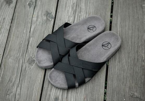 找到自己 MD 日系 男 時尚 休閒 室內戶外 潮鞋 拖鞋 織帶交叉 拼色 一字拖 拖鞋