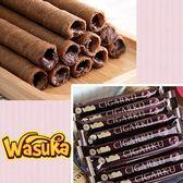 (有效期限至2018/12/25)【Wasuka】特級巧克力威化捲50支/袋(600g)-奶蛋素