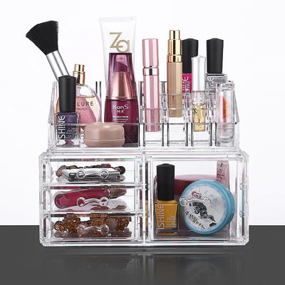 【24H出貨】多層抽屜式桌面收納盒 化妝盒 亞克力透明化妝品收納盒 快速出貨