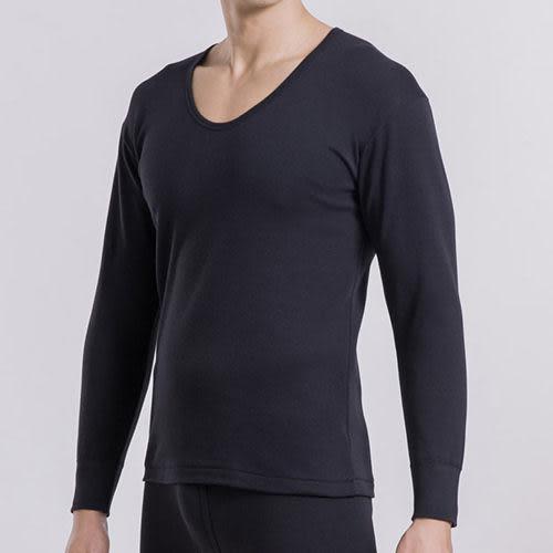 宜而爽2件組黑色時尚型男舒適厚棉U領衛生衣