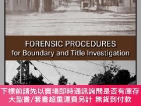 二手書博民逛書店預訂Forensic罕見Procedures For Boundary & Title Investigation