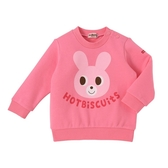 HOT BISCUITS 小兔印圖長袖T恤(粉紅)