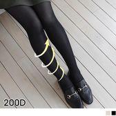 OB嚴選《ZB0173》200D顯瘦美腿中壓力機能九分襪/褲襪.2色