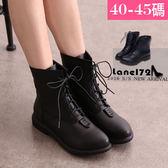 大尺碼女靴-真皮經典馬汀靴/短靴40-45碼【NTL60001❤172巷鞋舖】