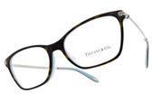 Tiffany&CO.光學眼鏡 TF2158BF 8134 (琥珀棕-銀) 閃亮浪漫魅力款 眼鏡框 # 金橘眼鏡