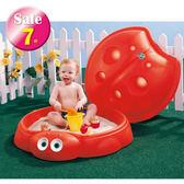 【A4-7810】瓢蟲玩沙戲水箱-美國STEP2兒童幼兒玩具戶外遊戲玩沙戲水沙池水池箱子蓋子 收納裝沙